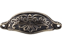 Top Knobs Chateau Abbot 3 15/16 Inch CC Cup Pull - Dark Antique Brass