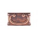 Top Knobs Chateau 3 Inch CC Mission Plate Handle - Antique Copper