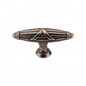 Top Knobs M930 Ribbon & Reed T-Pull 2 3/4 Inch (C-C)- German Bronze