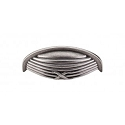 Top Knobs M938 Ribbon & Reed Cup Pull 3 Inch (C-C) Pewter Antique