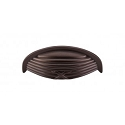 Top Knobs M940 Ribbon & Reed Cup Pull 3 Inch (C-C) Oil Rubbed Bronze
