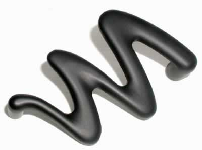 Top Knobs Nouveau II Cabinet Pull 3 3/4 Inch CC - Flat Black