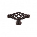 Top Knobs M618 Oval Medium Twist Knob 2 1/8 Inch- Patina Rouge