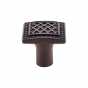 Top Knobs TK174PAR Trevi Square Knob 1 1/4 Inch- Patina Rouge