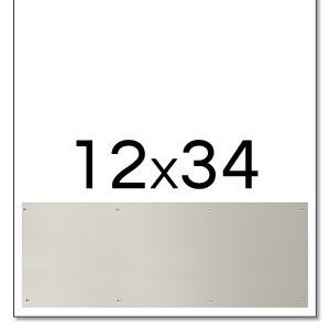 Trimco 12x34 Satin Stainless Steel Kickplate