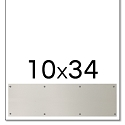 Trimco 10x34 Satin Stainless Steel Kickplate with Countersunk Holes