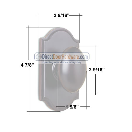Weslock Impresa Door Knob Measurements