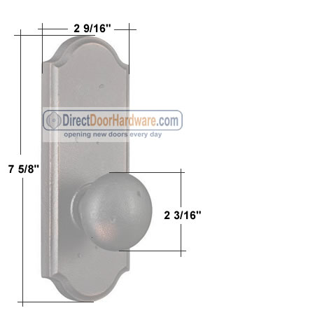 Weslock Wexford Premiere  Door Knob Measurements