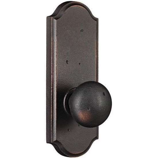 Weslock Molten Bronze Wexford Doorknob With Sutton Backplate