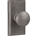 Weslock Molten Bronze Wexford  Doorknob with Square Backplate