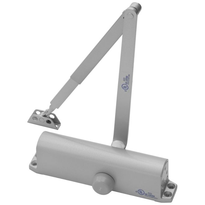 Yale Commercial 1104BC689 Size 4 Non Hold Open Door Closer with Backcheck Aluminum