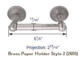 Emtek towel bar measurements