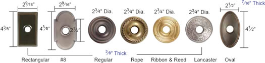 Emtek Brass Series rosette Measurements