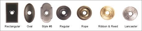 Emtek Brass Rosette Options