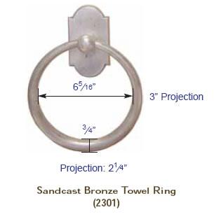 Emtek Sandcast Towel Bar Specs