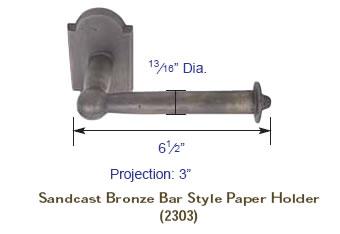 Emtek Sandcast Paper Holder Specs