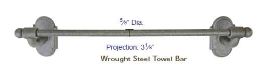 Emtek Wrought Steel Bar Style Paper Holder Specs
