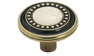 Allison ALBP862-BB -  1 1/4 Inch Traditional Burnished Brass Cabinet Knob