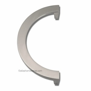 Atlas Homewares Roundabout Collection Large Single Pull in Brushed Nickel - 128mm CC