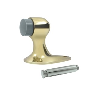 Deltana Solid Brass 2 1/8 Inch Floor Door Bumper