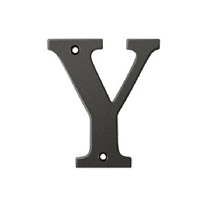 Deltana Solid Brass 4 Inch Residential Letter Y