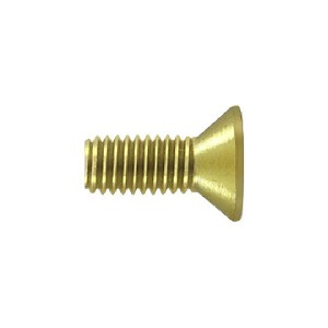 Deltana Solid Brass Screw Size #10 x 1/2 Inch Long Machine Screw