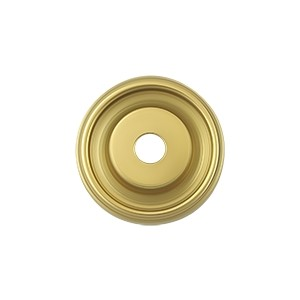 Deltana Solid Brass 1 Inch Diameter Base Plate for Knobs