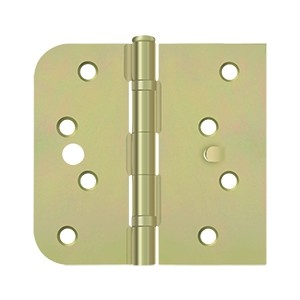 Deltana 4 x 4 Inch 1/4 Inch Radius x Square Corner Security Stud, Ball Bearings Steel Hinge - Pair