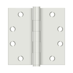 Deltana 4 1/2 x 4 1/2 Inch Square Corner Heavy Duty Steel Hinge - Pair