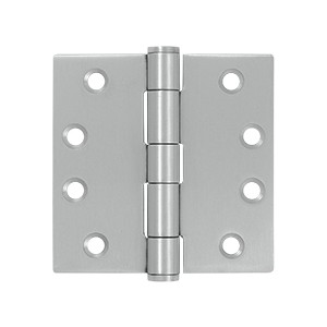 Deltana 4 x 4 Inch Stainless Steel Square Corner Hinge - Pair