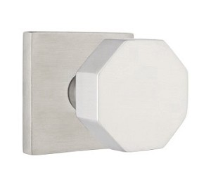 Emtek Stainless Steel Octagon Door Knob with Square Rosette