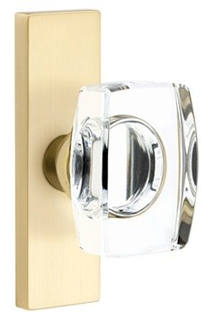 Emtek Windsor Crystal Door Knob with 1.5 Inch x 5 Inch Stretto Rosette