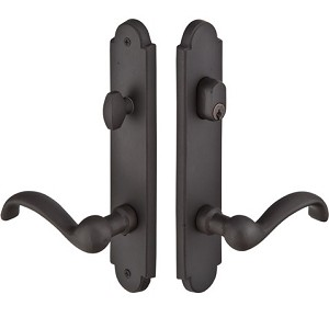 Emtek Configuration 2 Sandcast Arched 2X10 Multi Point Lock Trim Only