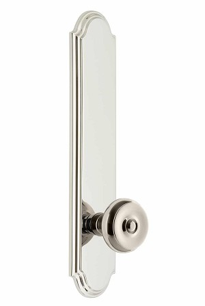 Grandeur Arc Tall Plate with Bouton Knob