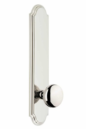 Grandeur Arc Tall Plate with Fifth Avenue Knob