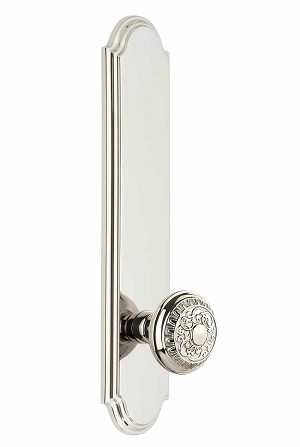 Grandeur Arc Tall Plate with Windsor Knob