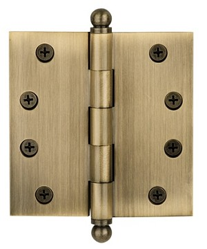 Nostalgic Warehouse 4 Inch Large Ball Tipped Hinge (each)