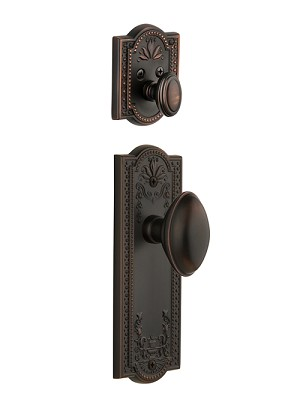 Grandeur Parthenon Handleset with Eden Prairie Knob - (Interior Half Only, with Deadbolt)
