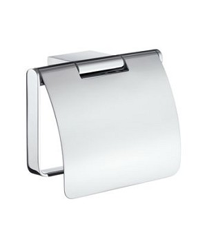 Smedbo AIR Toilet Roll Holder With Cover - Polished Chrome