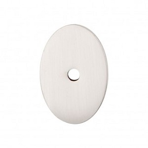 Top Knobs Sanctuary I Oval Backplate Medium 1 1/2 Inch - Brushed Satin Nickel