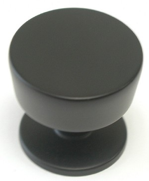 Top Knobs Nouveau III 1 3/16 Inch Cabinet Knob - Flat Black
