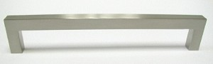 Top Knobs Nouveau III 6 5/16 Inch CC Square Bar Pull - Brushed Satin Nickel