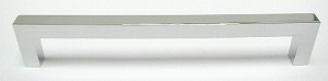 Top Knobs Nouveau III 6 5/16 Inch CC Square Bar Pull - Polished Chrome