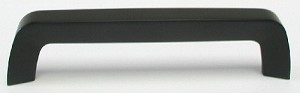 Top Knobs Nouveau III 5 1/16 Inch CC Tappered Bar Pull - Flat Black