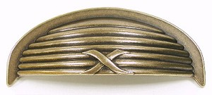 Top Knobs Edwardian 3 Inch CC Ribbon & Reed Cup Pull - German Bronze