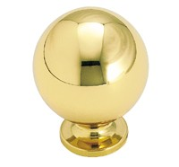 Amerock 1 1/4 Inch Solid Polished Brass Cabinet Knob