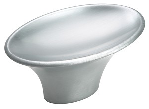 Amerock 1 15/16 Inch Brushed Chrome Sleek Cabinet Knob