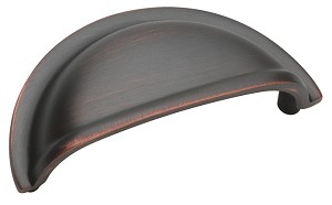 Amerock 3 Inch CC Oil Rubbed Bronze Solid Brass Cup Pull