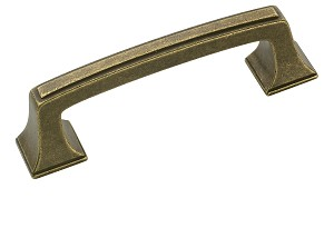 Amerock 3 Inch CC Rustic Brass Mulholland Cabinet Pull