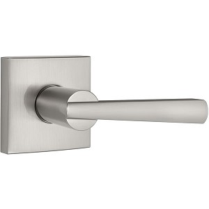 Baldwin Prestige Series Spyglass Lever Handle Satin Nickel